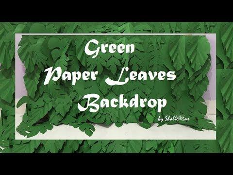 Paper Leaves Backdrop   Shalimar Decors  
