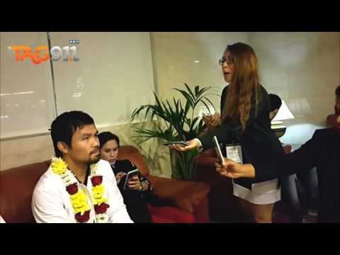 Manny Pacquiao Arrives in Dubai, Shares Updates with Filipino Radio Station in the UAE - TAG 91.1