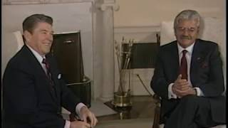President Reagan Meeting with President Febres-Codero of Ecuador on January 14, 1986
