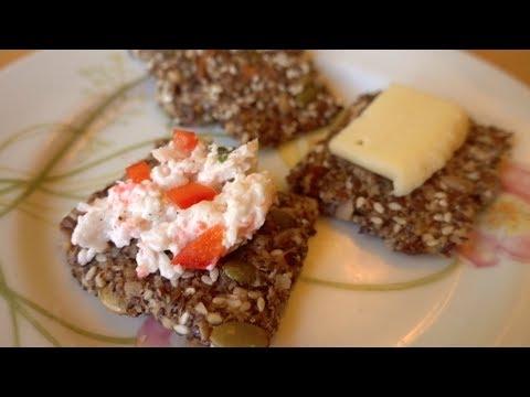 Healthy Seed & Nut Crispbread Cracker Recipe (Gluten Free)