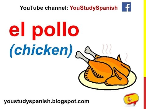 Spanish Lesson 46 - FISH And MEAT In Spanish Poultry Seafood Ham Food Vocabulary