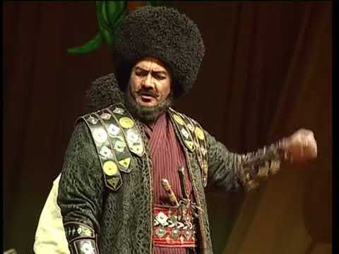 "Turkmen theatre about Nurberdi Han: ""Watan hakda üç aýdym"" part 1"