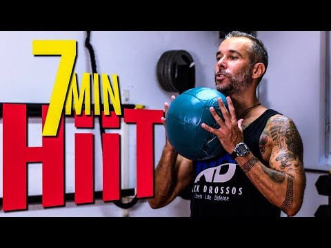 7Min HIIT MEDICINE BALL work out! Nick Drossos