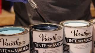Aplicación sobre Madera de Tintes Vintage Varathane. www.doctor-obra.com/videos