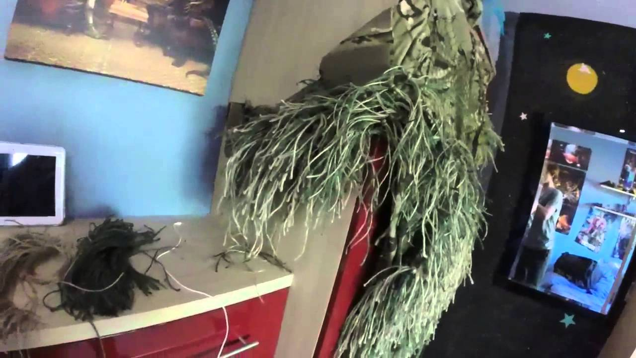 how to make a ghillie suit with jute