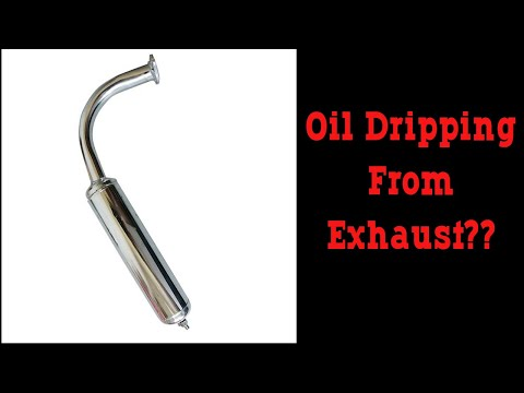 Oil Dripping Out Of 2 Stroke Motorized Bicycle Exhaust - Problem or Not? thumbnail
