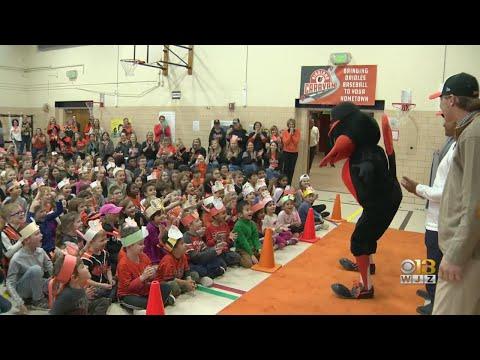 Orioles Birdland Caravan Stops At Timonium Elementary School