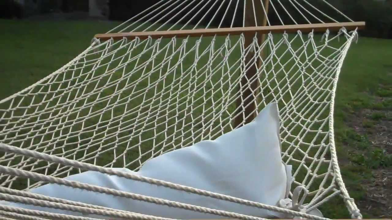 How to Hang a Hammock between Treated Posts with Support Cables