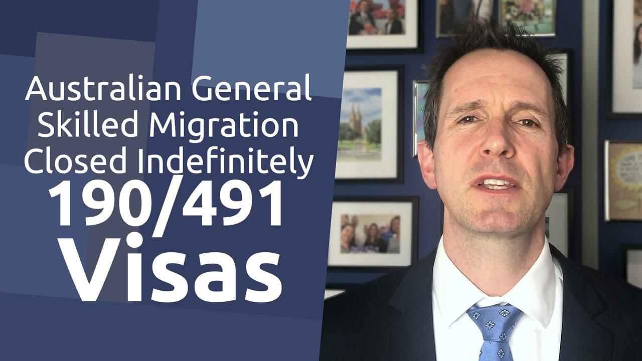 Australian State Sponsored Skilled Invitations Closed Indefinitely - 190/491 Visas