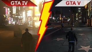 THE BIG GTA IV (iCEnhancer 3.0) vs. GTA V COMPARISON | PC | ULTRA