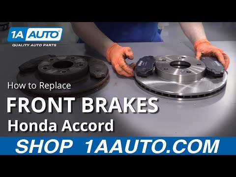 How to Replace Front Brakes 03-07 Honda Accord