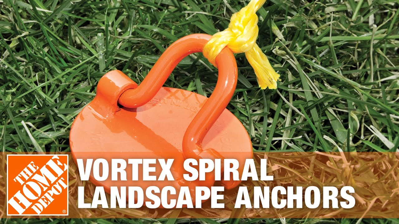 Vortex Spiral Landscape Anchors - The Home Depot - YouTube on mobile home anchors lowe's, concrete anchors screw machine, mobile home tie down installation, mobile home ground anchors, mobile home tie downs and anchors, mobile home earth anchors, mobile home hold down anchors, anchor driver machine,