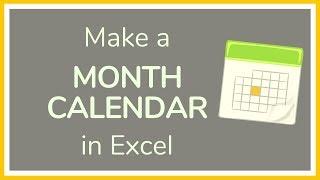 Comment Créer un Calendrier mensuel Excel - Tutoriel