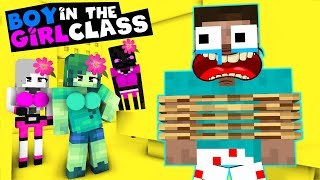 GIRLS VS BOY IN CLASS MONSTER SCHOOL - Minecraft Animation