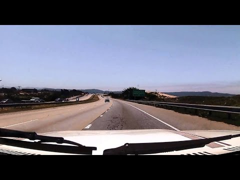 Drive from Aptos to City of Seaside, California, Hwy 1 S, 3 May 2015