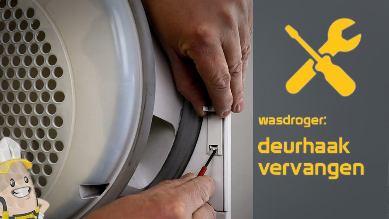 Nieuw Deurhaak van wasdroger vervangen   Reparatie en Onderhoud Advies DO-49