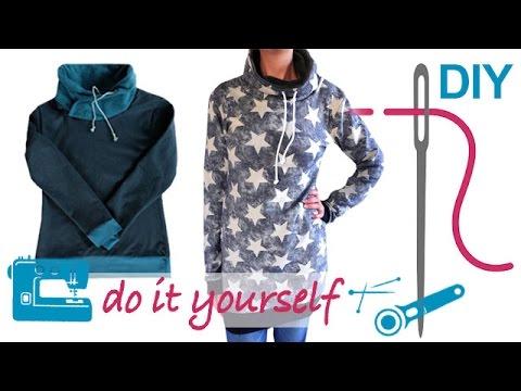 """DIY Kleid nähen – mit Schalkragen oder Rollkragen – Zierstoff Schnittmuster """"Thyra"""""""