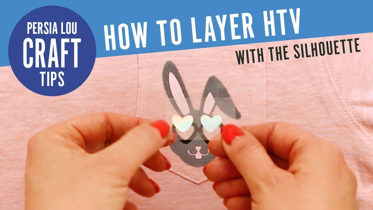 How to Layer HTV (Heat Transfer Vinyl) with your Silhouette (Cut Out Method)