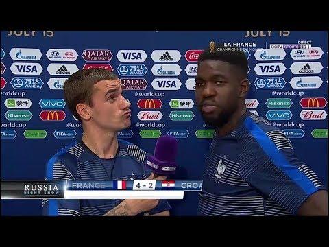 France vs Croatie 4 2 Les Réactions de SAM Umtiti, Griezmann, Deschamps, Pavard et Mendy