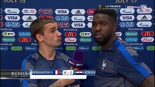 France vs Croatie 4 2 Les Réactions de SAM Umtiti, Griezmann, Deschamps, Pavard et Mendy