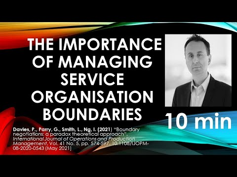 (10 mins - more theory) The Importance of managing service organisation boundaries