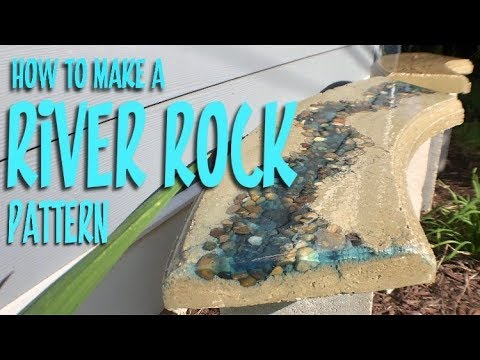 How to make a RIVER ROCK pattern in concrete with 2-part EPOXY and Unicorn Spit!
