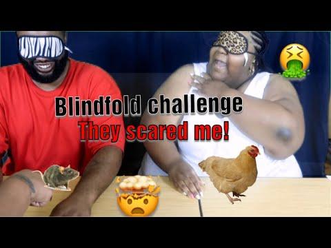 BLINDFOLDED CHALLENGE   OMG THEY GLUED OUR HANDS TOGETHER