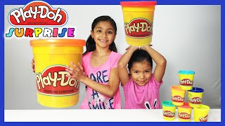 Play Doh Cans Surprise Eggs Shopkins Barbie Lego | World Play Doh Day