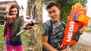 Nerf War: SWAT ⚡ Army Nerf Guns Thief Group Super Girl Nerf Elite Blasters Gaming