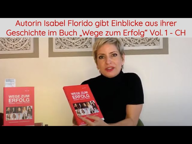 Autorin Isabel Florido gibt Einblicke aus ihrer Geschichte - Buch