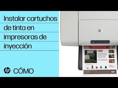Instalar cartuchos de tinta en impresoras de inyección | Impresoras de inyección de tinta | HP
