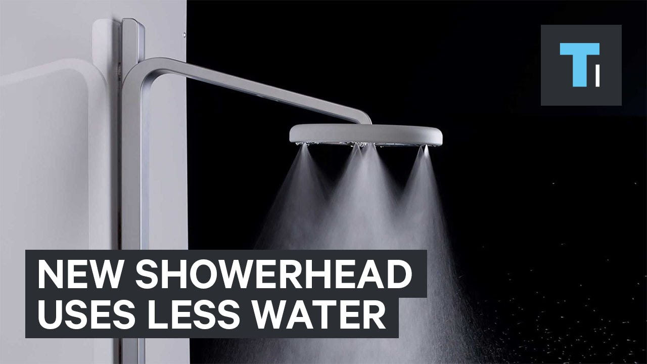 New showerhead uses less water