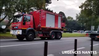 Arrivée des Sapeurs Pompiers sur l'incendie d'une cave dans la maison
