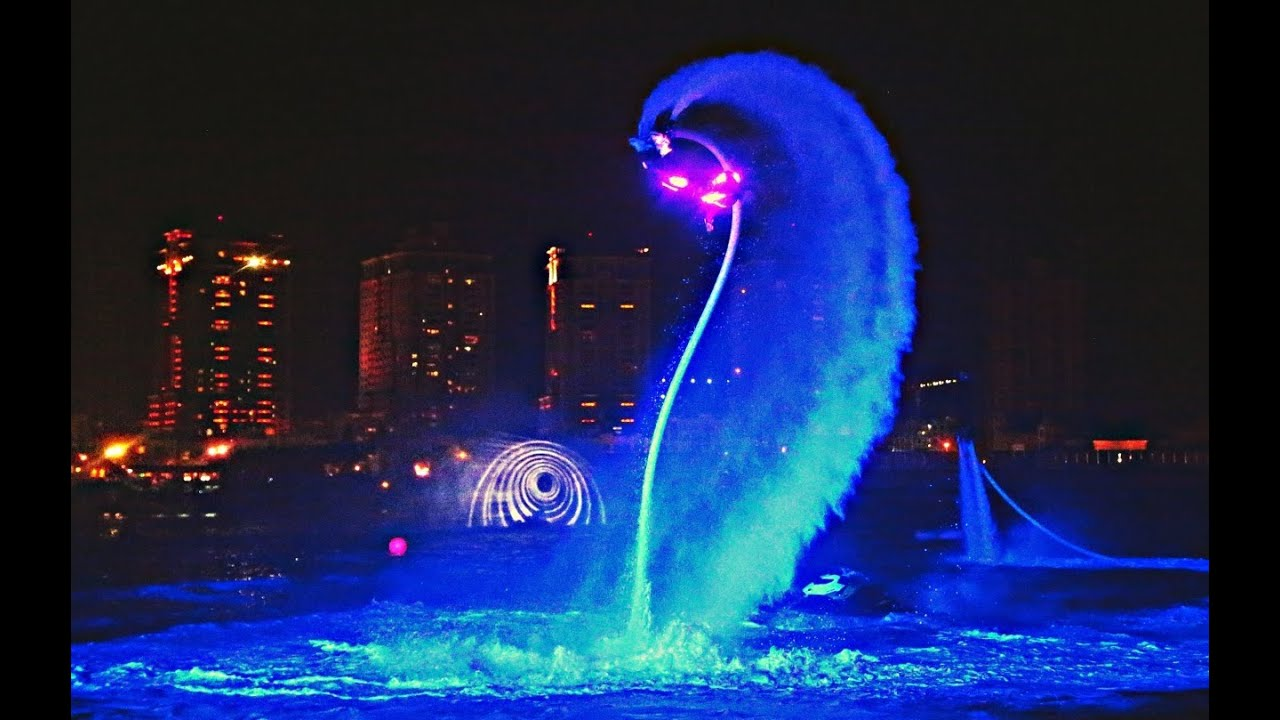Incredible Flyboard Night Time Water Show Led Suites