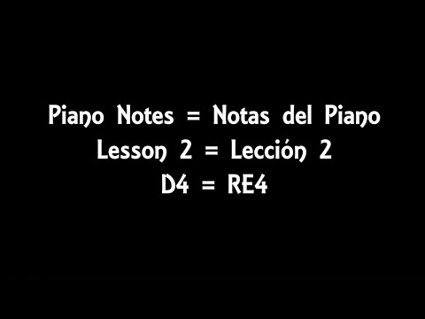 piano notes - lesson 2 - d4