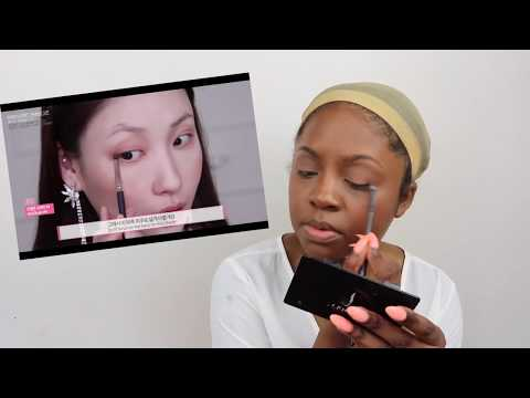 BLACK GIRL TRIES FOLLOWING A KOREAN MAKEUP TUTORIAL