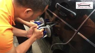 Sửa xe - Dùng hút kính xử lý vết móp bên sườn ô tô nhanh