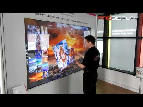 Interactive Digital Glass Rear Projection Touch Screen