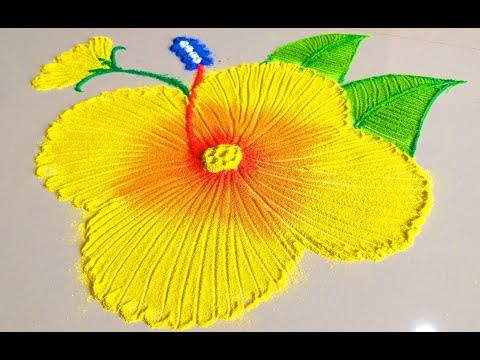 Beautiful Rangoli Flower Designs || Very Nice and Good morning Flower Rangoi Designs - thumbnail