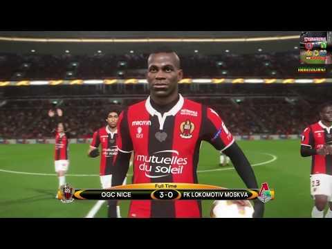PS4 PES 2018 Gameplay OGC Nice vs Lokomotiv Moscow [HD]