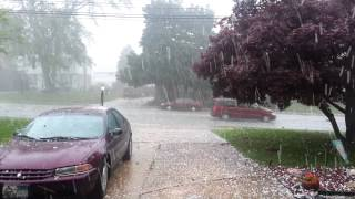 Claymont Delaware Extreme Hail Storm