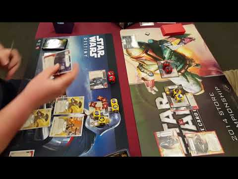 Star Wars Destiny. Cad, Phasma vs Poe, Sabine.