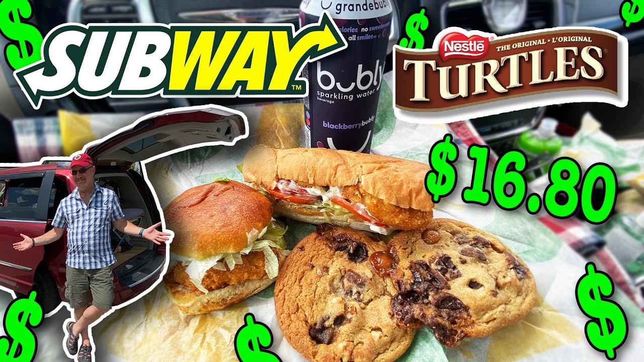 SUBWAY!!! NEW Crispy Chicken Sidekick and Turtle Cookies •FOOD REVIEW #Subway