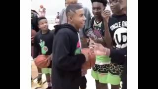 Julian Newman ankle breaker