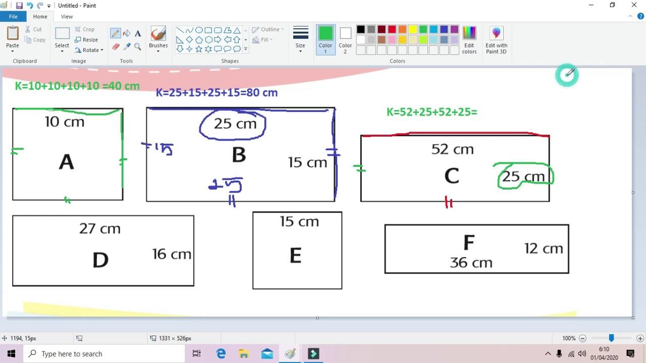 Video Pembelajaran Kelas 3 Sd Menghitung Keliling Bangun Datar Persegi Dan Persegi Panjang Youtube
