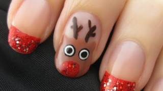 Cute Reindeer Nail Art