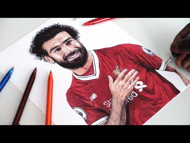 MOHAMED SALAH PEN DRAWING - Liverpool FC