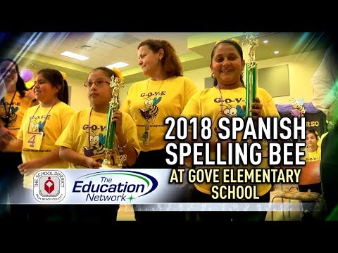 2018 Spanish Spelling Bee at Gove Elementary School