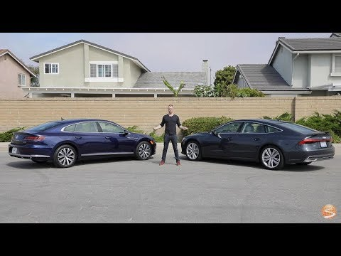 Volkswagen Arteon vs Audi A7 Comparison Video Review