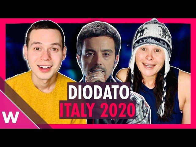 Italy Eurovision 2020 reaction | Diodato Fai rumore (Sanremo WINNER)